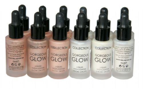 12 x Collection Gorgeous Glow Liquid Highlighter Drops | Strobe 1 and Glow 2 |